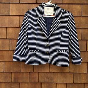 Anthropologie Cartonnier Striped Nautical Blazer